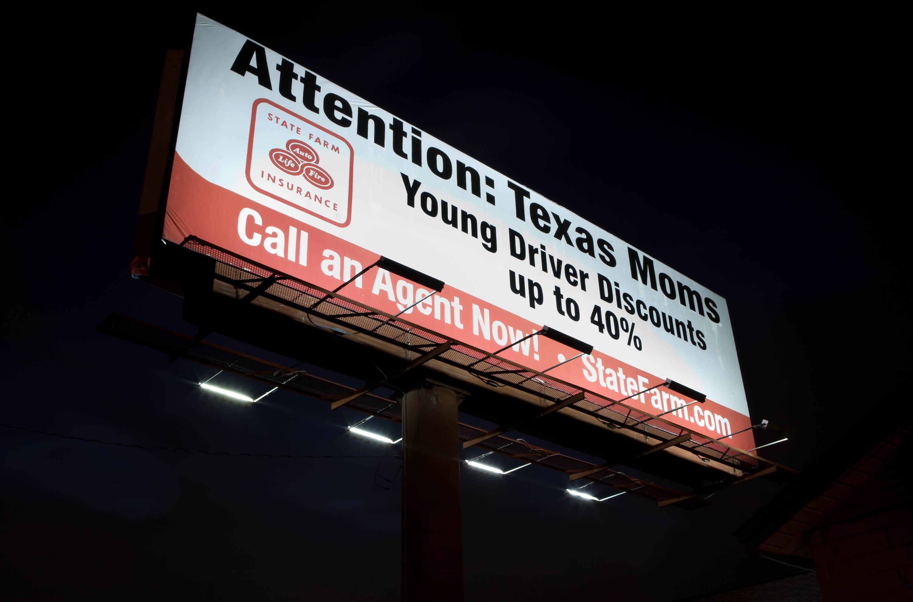 48ft x 12ft Billboard - using 4 x 75 Watt ActiveLED Billboard Lights & ActiveLED Billboard Lights - Monument Lighting - Sign Lighting