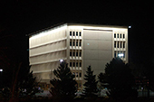 Brighton City Hall, Colorado - Using 75 Watt Billboard Lights to wall wash the whole building top to bottom